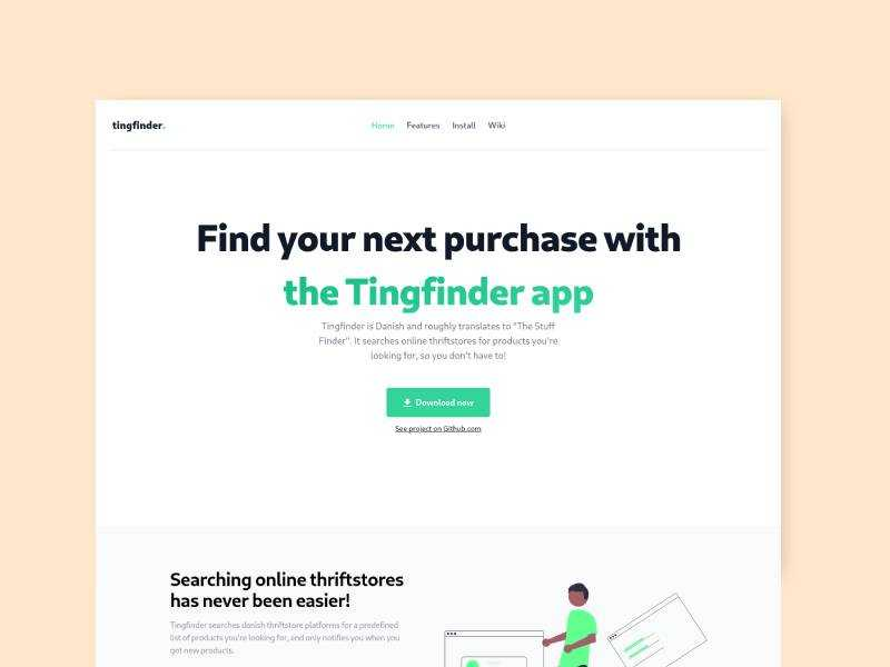 Tingfinder app and website
